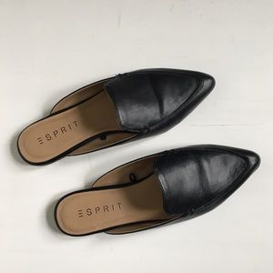 Espirit Mia Slip On Loafer Mules in Black Size 7.5